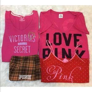 Bundle 4 VS Victoria's Secret Pink XS tee shorts
